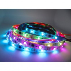 QUALEDY Digitale LED RGB Strip 7.2W/m 5m IP65 WS2811 Set