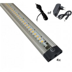 QUALEDY LED Bar Touch 3W 9.5-30V Complete set met 4 Bars