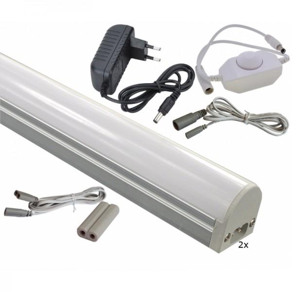 qualedy led onderbouwverlichting 5w 24v complete set met 2 bars