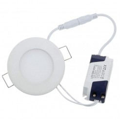 QUALEDY LED Paneel Rond Ø120x12mm 6W 400LM IP54 (zaagmt Ø105mm)