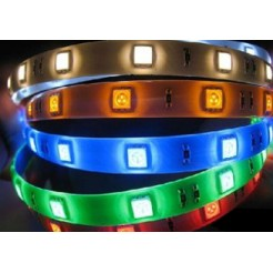 Complete LED-strip RGB van 5 meter (inclusief IP65 AB-adapter)